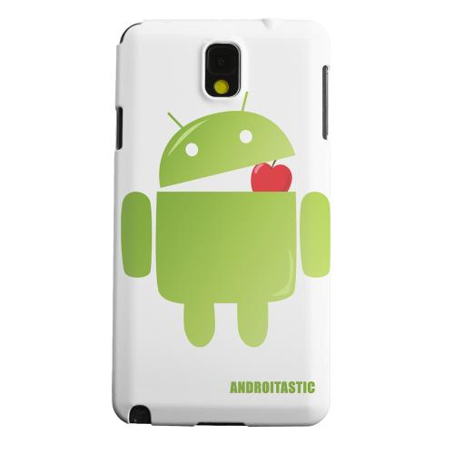 Geeks Designer Line (GDL) Samsung Galaxy Note 3 Matte Hard Back Cover - Robot Versus Apple