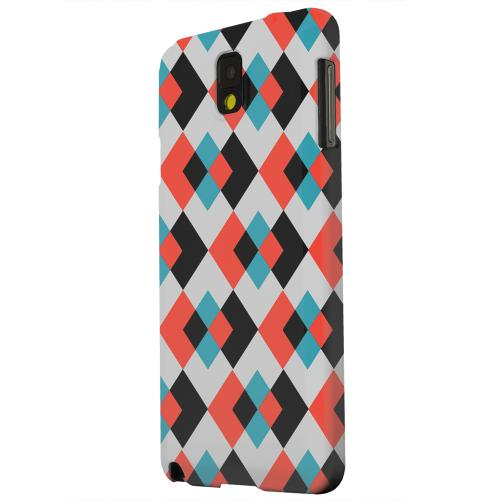 Geeks Designer Line (GDL) Samsung Galaxy Note 3 Matte Hard Back Cover - Double Diamond Vision