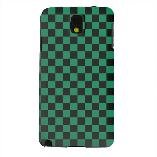 Geeks Designer Line (GDL) Samsung Galaxy Note 3 Matte Hard Back Cover - Green/ Black