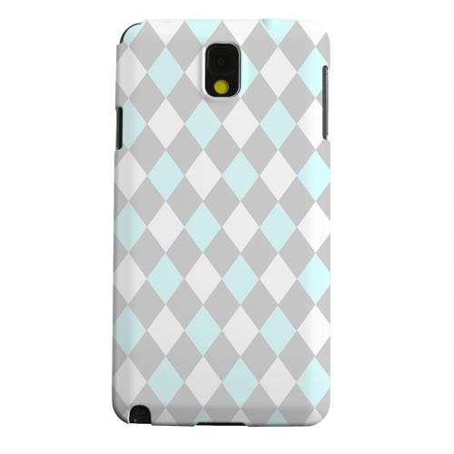 Geeks Designer Line (GDL) Samsung Galaxy Note 3 Matte Hard Back Cover - Pink/ Blue/ Gray Argyle