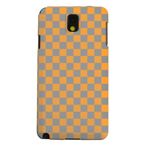 Geeks Designer Line (GDL) Samsung Galaxy Note 3 Matte Hard Back Cover - Orange/ Gray