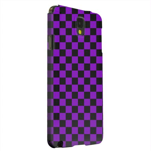 Geeks Designer Line (GDL) Samsung Galaxy Note 3 Matte Hard Back Cover - Purple/ Black