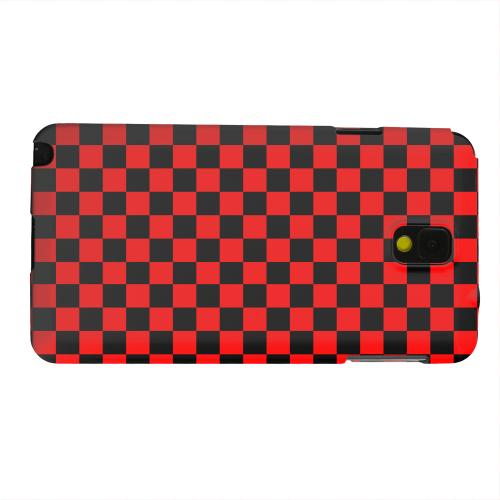 Geeks Designer Line (GDL) Samsung Galaxy Note 3 Matte Hard Back Cover - Red/ Black