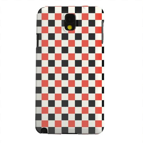 Geeks Designer Line (GDL) Samsung Galaxy Note 3 Matte Hard Back Cover - Red/ Black on Cream