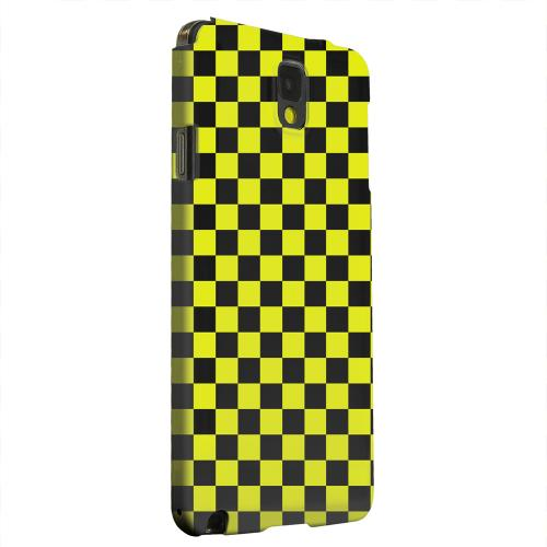 Geeks Designer Line (GDL) Samsung Galaxy Note 3 Matte Hard Back Cover - Yellow/ Black
