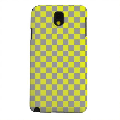 Geeks Designer Line (GDL) Samsung Galaxy Note 3 Matte Hard Back Cover - Yellow/ Gray