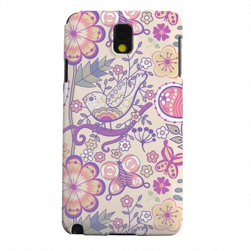 Geeks Designer Line (GDL) Samsung Galaxy Note 3 Matte Hard Back Cover - Birds, Hearts & Flowers
