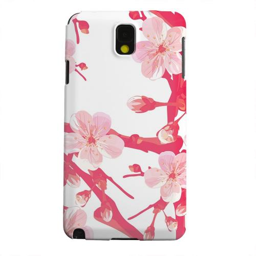 Geeks Designer Line (GDL) Samsung Galaxy Note 3 Matte Hard Back Cover - Hot Pink Cherry Blossom