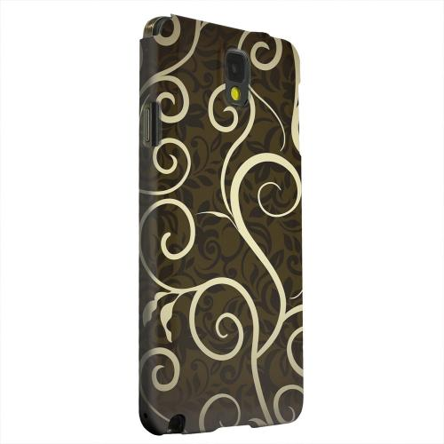 Geeks Designer Line (GDL) Samsung Galaxy Note 3 Matte Hard Back Cover - Elegant Dark Vines
