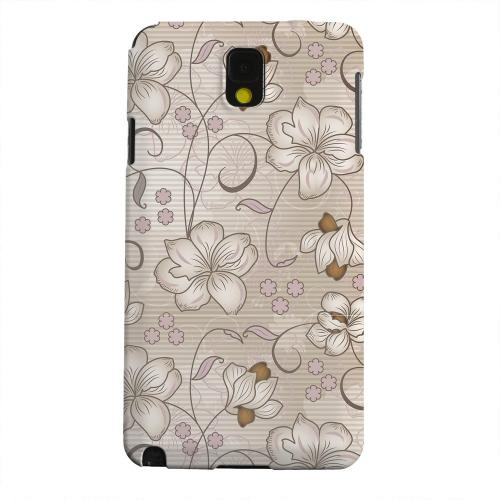 Geeks Designer Line (GDL) Samsung Galaxy Note 3 Matte Hard Back Cover - Floral Stripes Linen