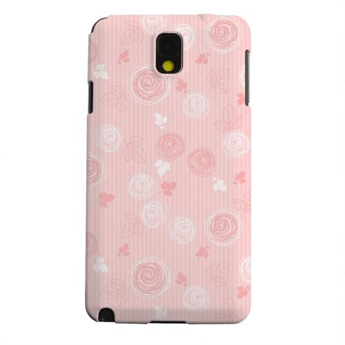 Geeks Designer Line (GDL) Samsung Galaxy Note 3 Matte Hard Back Cover - Leaves Scribble Pinkish