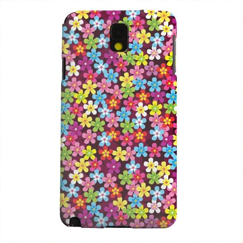 Geeks Designer Line (GDL) Samsung Galaxy Note 3 Matte Hard Back Cover - Multi-Colored Flowers