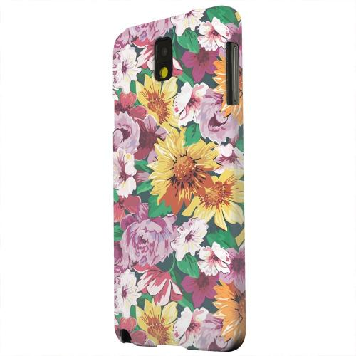 Geeks Designer Line (GDL) Samsung Galaxy Note 3 Matte Hard Back Cover - Pink/ Orange Flowers