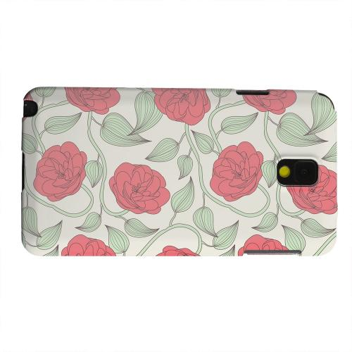 Geeks Designer Line (GDL) Samsung Galaxy Note 3 Matte Hard Back Cover - Roses & Vines