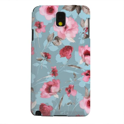Geeks Designer Line (GDL) Samsung Galaxy Note 3 Matte Hard Back Cover - Vintage Watercolor Roses