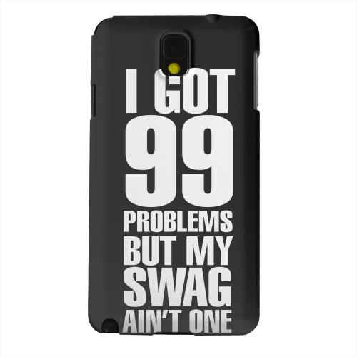 Geeks Designer Line (GDL) Samsung Galaxy Note 3 Matte Hard Back Cover - 99 Problems on Black