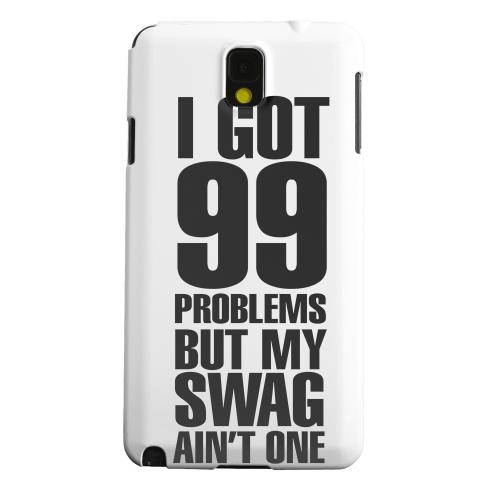 Geeks Designer Line (GDL) Samsung Galaxy Note 3 Matte Hard Back Cover - 99 Problems on White