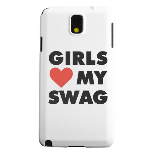 Geeks Designer Line (GDL) Samsung Galaxy Note 3 Matte Hard Back Cover - Girls Love My Swag