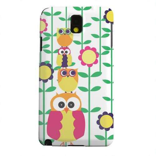 Geeks Designer Line (GDL) Samsung Galaxy Note 3 Matte Hard Back Cover - Colorful Owl Tower
