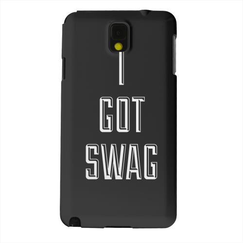 Geeks Designer Line (GDL) Samsung Galaxy Note 3 Matte Hard Back Cover - I Got Swag
