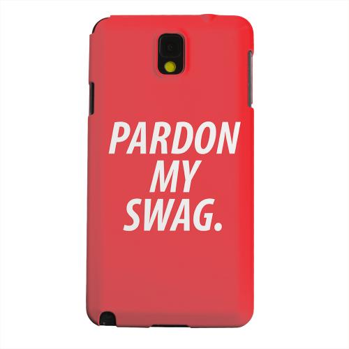 Geeks Designer Line (GDL) Samsung Galaxy Note 3 Matte Hard Back Cover - Pardon My Swag
