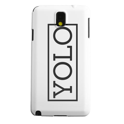 Geeks Designer Line (GDL) Samsung Galaxy Note 3 Matte Hard Back Cover - Black/ White YOLO