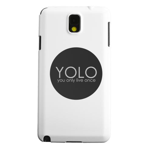 Geeks Designer Line (GDL) Samsung Galaxy Note 3 Matte Hard Back Cover - YOLO Circle