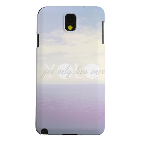 Geeks Designer Line (GDL) Samsung Galaxy Note 3 Matte Hard Back Cover - Filled YOLO