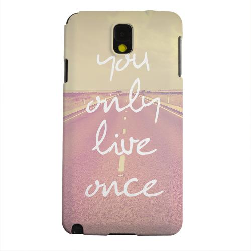 Geeks Designer Line (GDL) Samsung Galaxy Note 3 Matte Hard Back Cover - Open Road YOLO