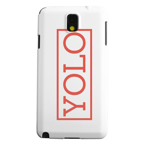 Geeks Designer Line (GDL) Samsung Galaxy Note 3 Matte Hard Back Cover - Red YOLO