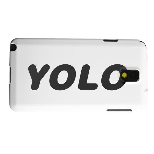 Geeks Designer Line (GDL) Samsung Galaxy Note 3 Matte Hard Back Cover - Rounded YOLO