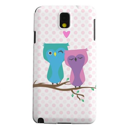 Geeks Designer Line (GDL) Samsung Galaxy Note 3 Matte Hard Back Cover - Owl Love You Forever