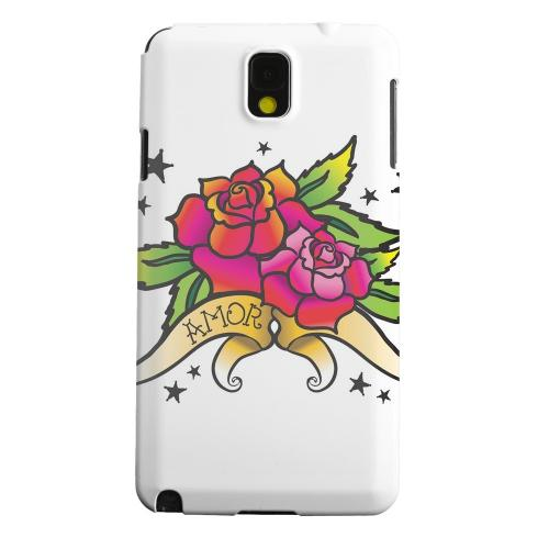 Geeks Designer Line (GDL) Samsung Galaxy Note 3 Matte Hard Back Cover - Amor Rose
