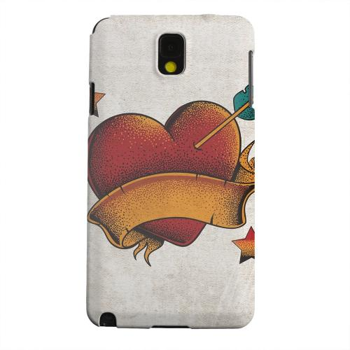 Geeks Designer Line (GDL) Samsung Galaxy Note 3 Matte Hard Back Cover - Arrow In The Heart
