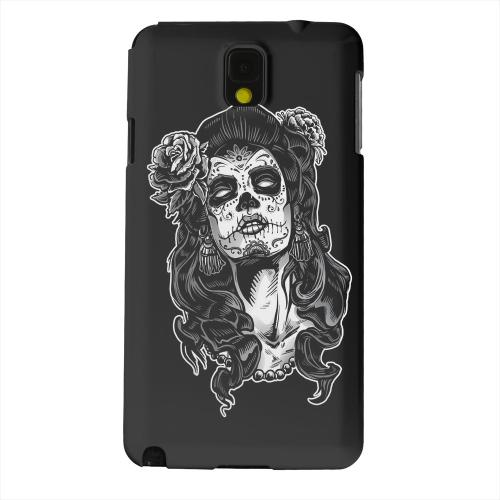 Geeks Designer Line (GDL) Samsung Galaxy Note 3 Matte Hard Back Cover - Day of the Dead Girl on Black