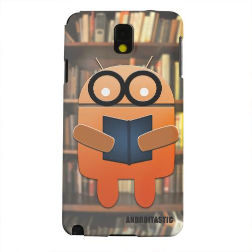 Geeks Designer Line (GDL) Samsung Galaxy Note 3 Matte Hard Back Cover - Studious Orange Robot