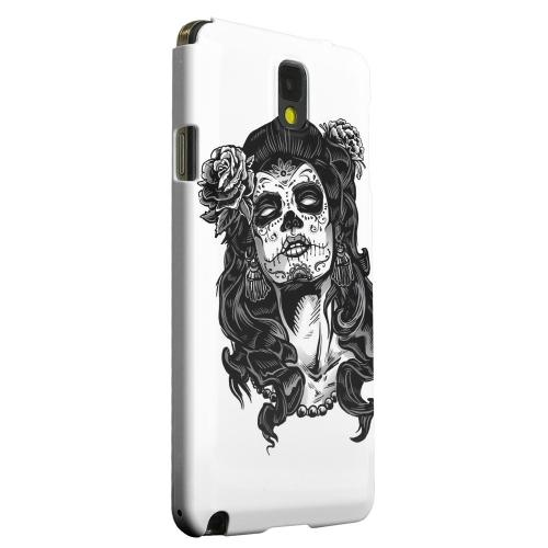 Geeks Designer Line (GDL) Samsung Galaxy Note 3 Matte Hard Back Cover - Day of the Dead Girl on White