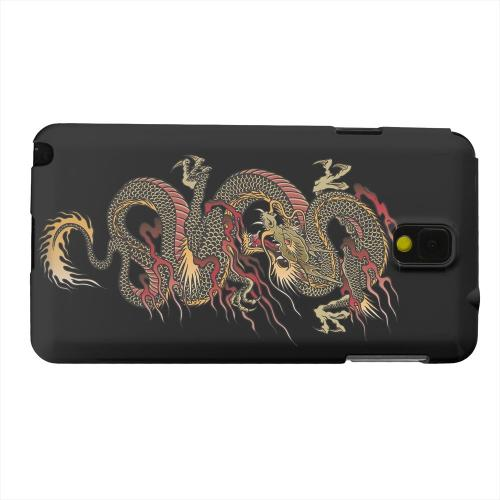 Geeks Designer Line (GDL) Samsung Galaxy Note 3 Matte Hard Back Cover - Dragon on Black