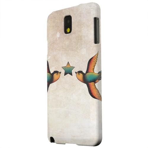 Geeks Designer Line (GDL) Samsung Galaxy Note 3 Matte Hard Back Cover - Dual Swallow Star