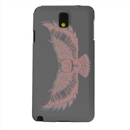 Geeks Designer Line (GDL) Samsung Galaxy Note 3 Matte Hard Back Cover - Flying Owl 3D-Esque