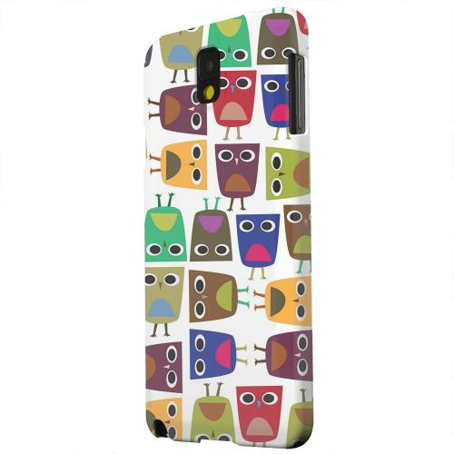 Geeks Designer Line (GDL) Samsung Galaxy Note 3 Matte Hard Back Cover - Quadrilateral Owl Configuration