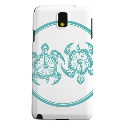 Geeks Designer Line (GDL) Samsung Galaxy Note 3 Matte Hard Back Cover - Aqua Island Turtle Duo
