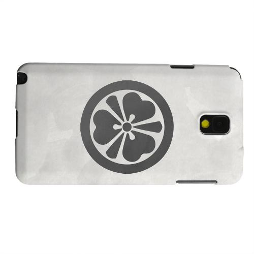 Geeks Designer Line (GDL) Samsung Galaxy Note 3 Matte Hard Back Cover - Katabami Kamon on Paper v.3