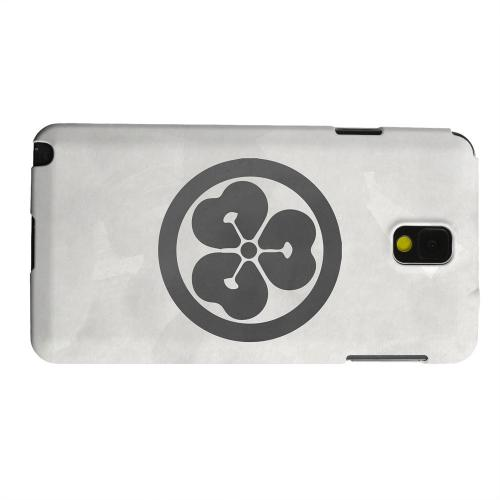 Geeks Designer Line (GDL) Samsung Galaxy Note 3 Matte Hard Back Cover - Katabami Kamon on Paper v.4