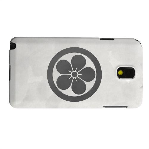 Geeks Designer Line (GDL) Samsung Galaxy Note 3 Matte Hard Back Cover - Umebachi Kamon on Paper v.3