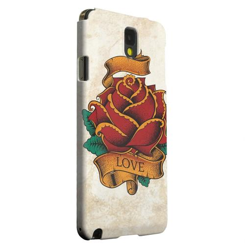 Geeks Designer Line (GDL) Samsung Galaxy Note 3 Matte Hard Back Cover - Love Rose