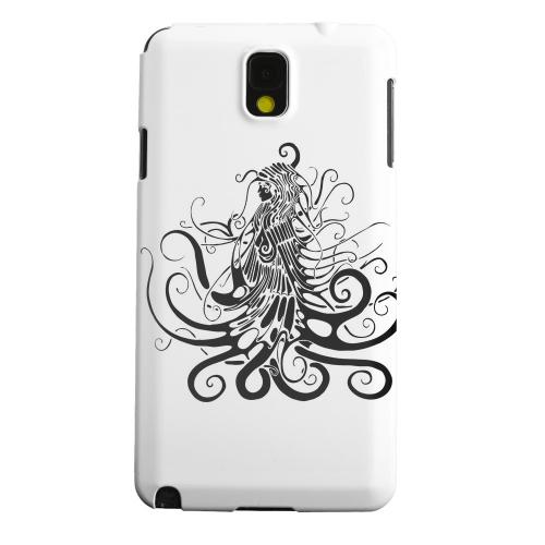 Geeks Designer Line (GDL) Samsung Galaxy Note 3 Matte Hard Back Cover - Black Medua on White