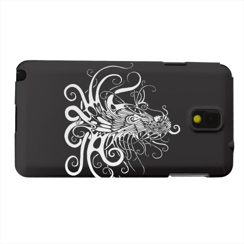 Geeks Designer Line (GDL) Samsung Galaxy Note 3 Matte Hard Back Cover - White Medusa on Black