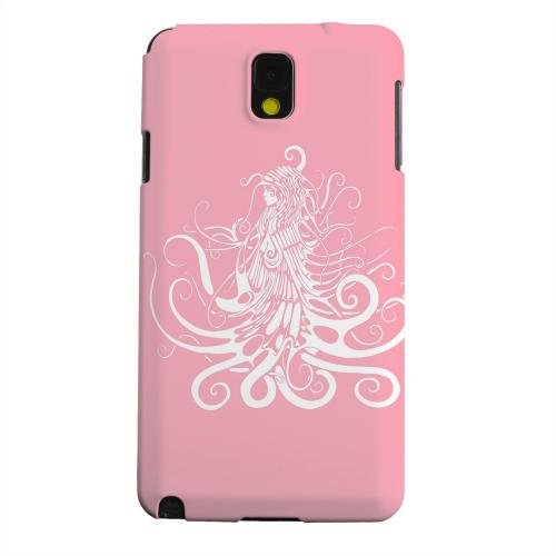 Geeks Designer Line (GDL) Samsung Galaxy Note 3 Matte Hard Back Cover - White Medusa on Pink