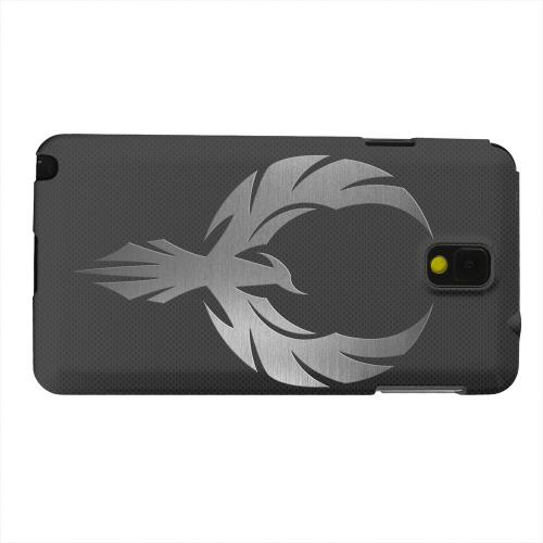 Geeks Designer Line (GDL) Samsung Galaxy Note 3 Matte Hard Back Cover - Phoenix Metal on Dark Gray Texture